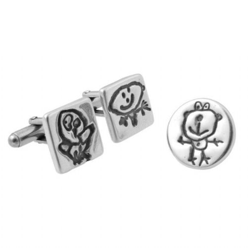 Artwork Cufflinks And Pin